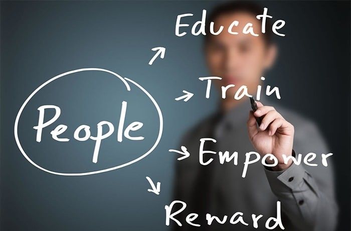Manage human resources - the people who make up the workforce