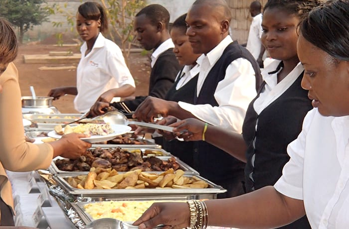 Catering team can cater for up to 1000 people