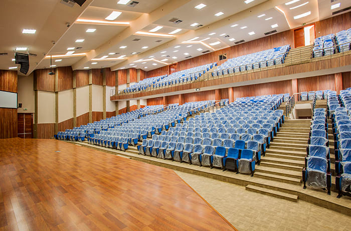An ultra-modern auditorium with a seating capacity of 800
