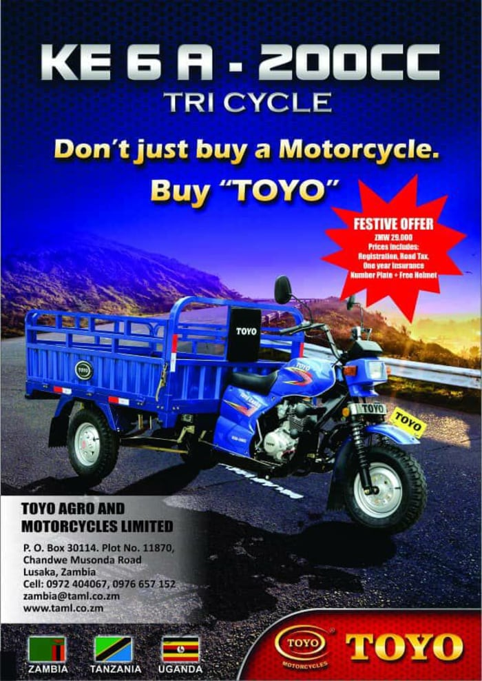 Toyo tricycles for sale