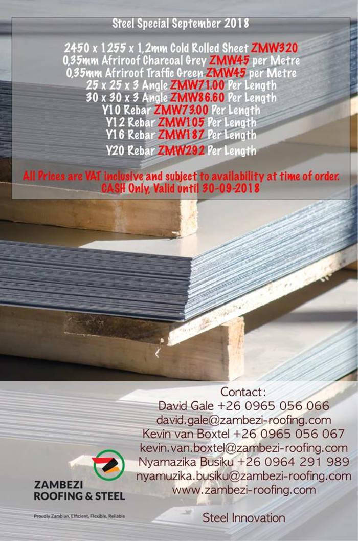 September specials - steel supplies