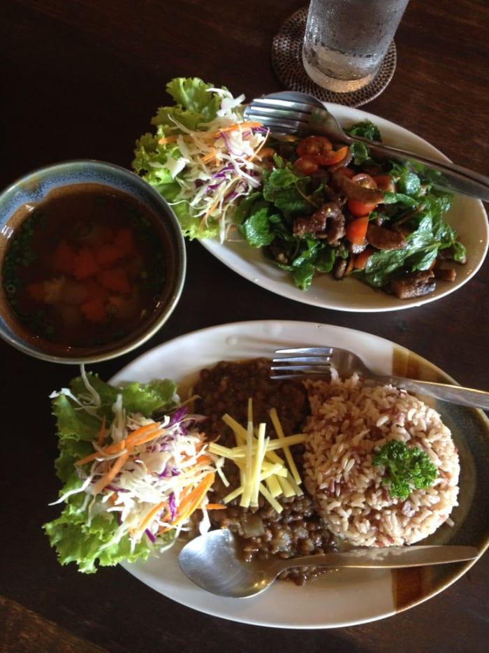 Vegetarian selections, gluten free and vegan alternatives