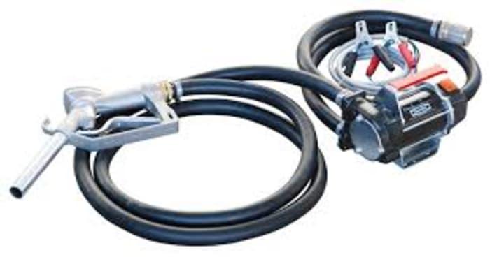 Portable fuel transfer pump unit