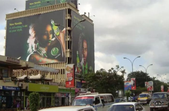 Billboards, street furniture and mall media