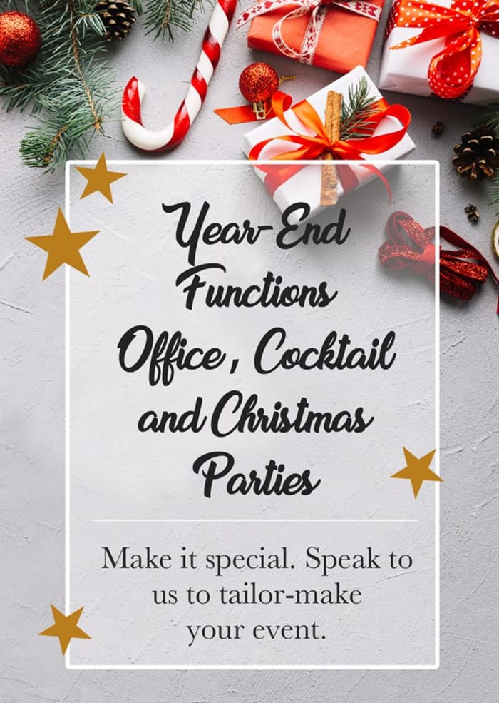 Let Fringilla make your year-end function extra special!
