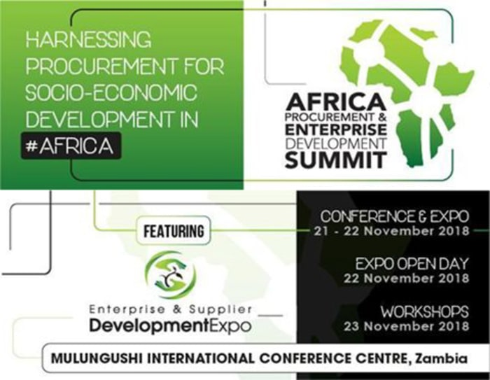 Zambia to host Africa Procurement Summit 2018