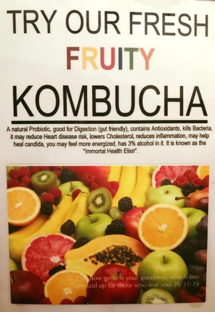 Mint Lounge now stocking KOMBUCHA fruit drink