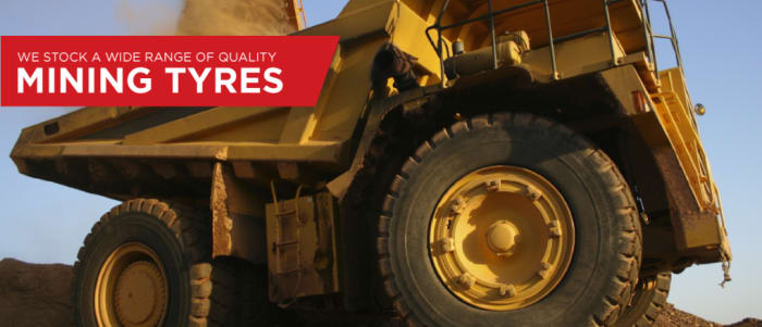 Choose Automotive Equipment for all your mining tyre requirements