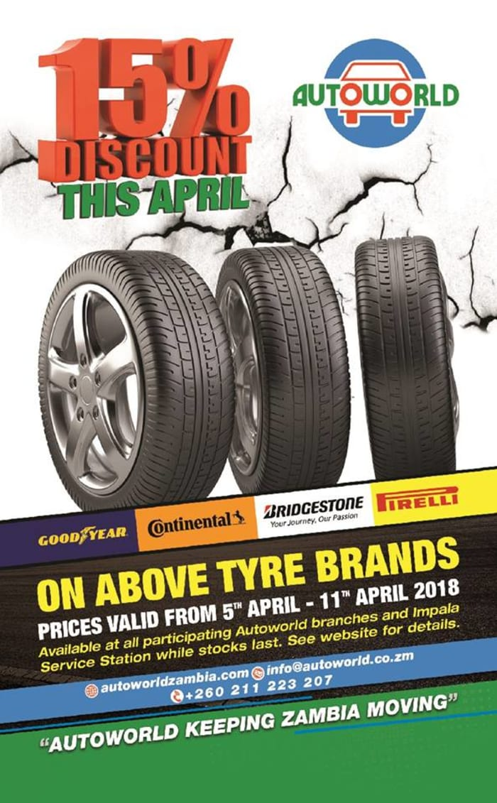15% discount on tyres