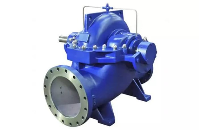 Omega-axially split volute casing pump