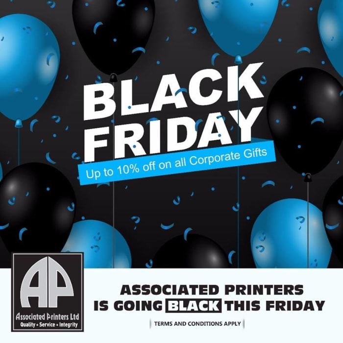 Black Friday 10% off corporate gifts