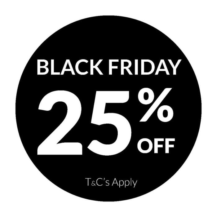 Black Friday 25% off jewellery
