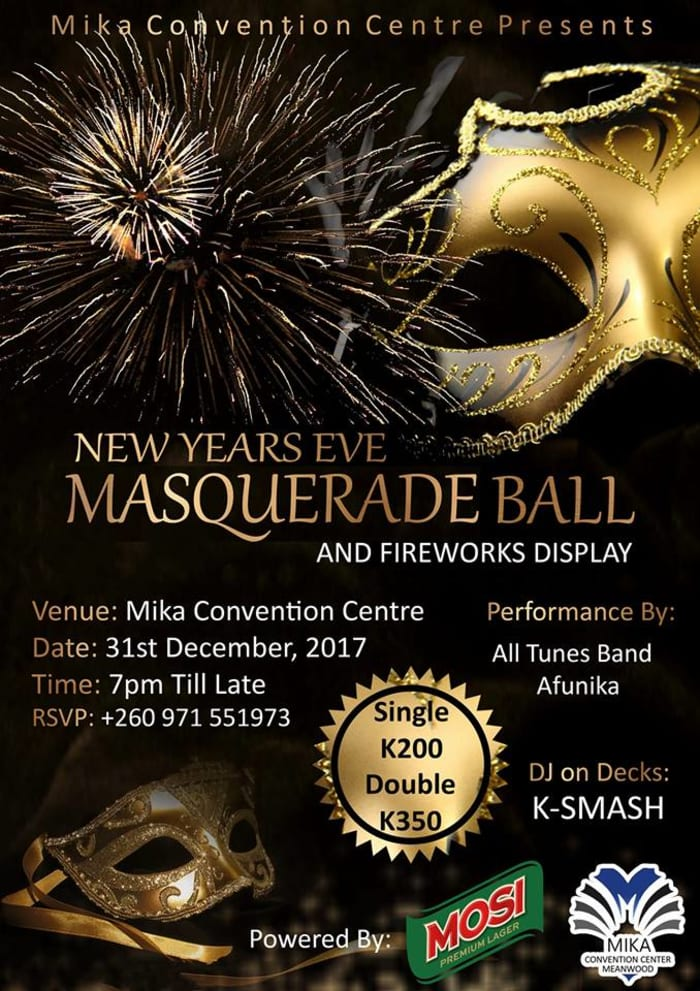 New year's Masquerade Ball and Fireworks Display