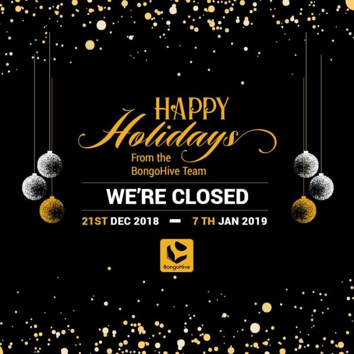 Happy Holidays from the BongoHive Team