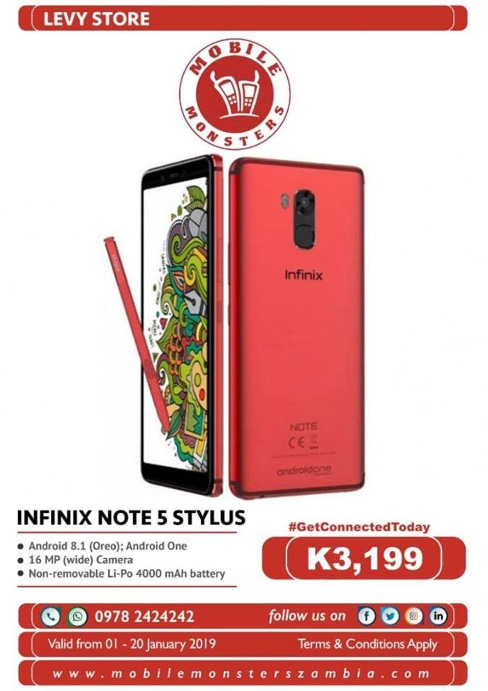 Infinix stylus note 5