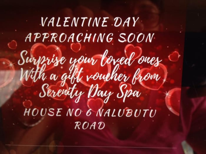 Valentines day specials at Serenity Day Spa