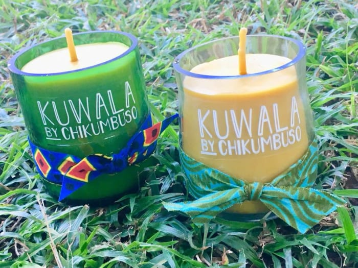 Students make beeswax candles to support Chikumbuso's college fund
