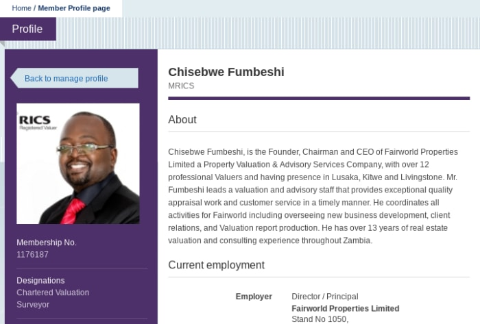 CEO of Fairworld Properties is recognised by The Royal Institution of Chartered Surveyors