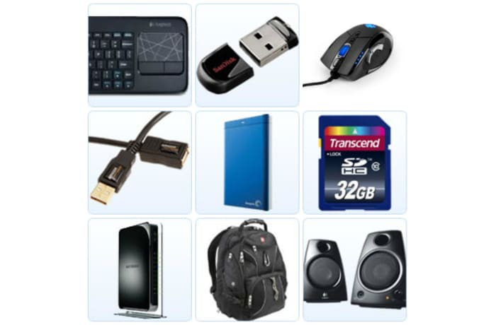 Diverse range of computer hardware and accessories