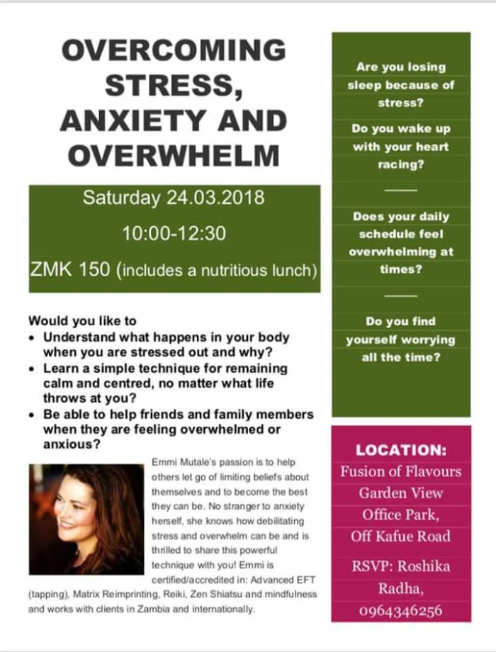 Overcoming stress, anxiety and overwhelm - Workshop