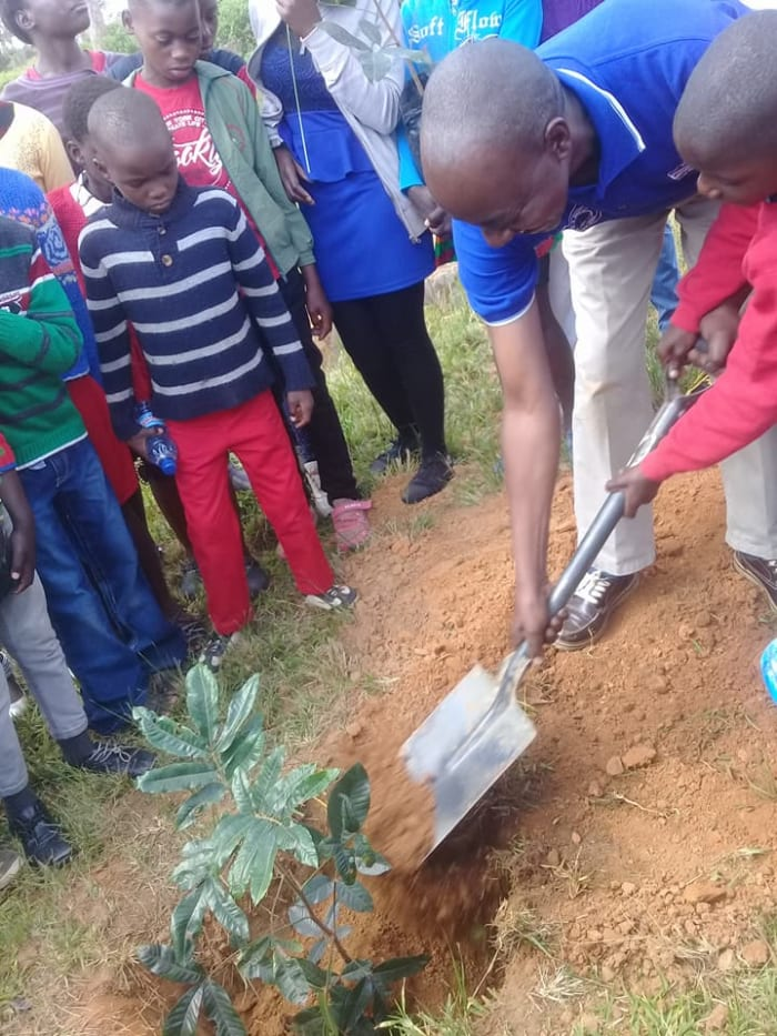 Celebrating 72 years by planting trees with SOS Children