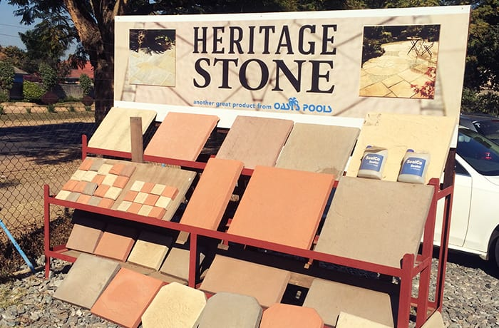 Quality simulated stone products available in a choice of 'earth tone' colours
