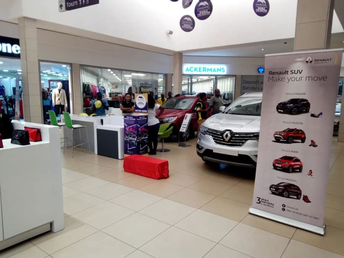 Renault Zambia display at Manda Hill
