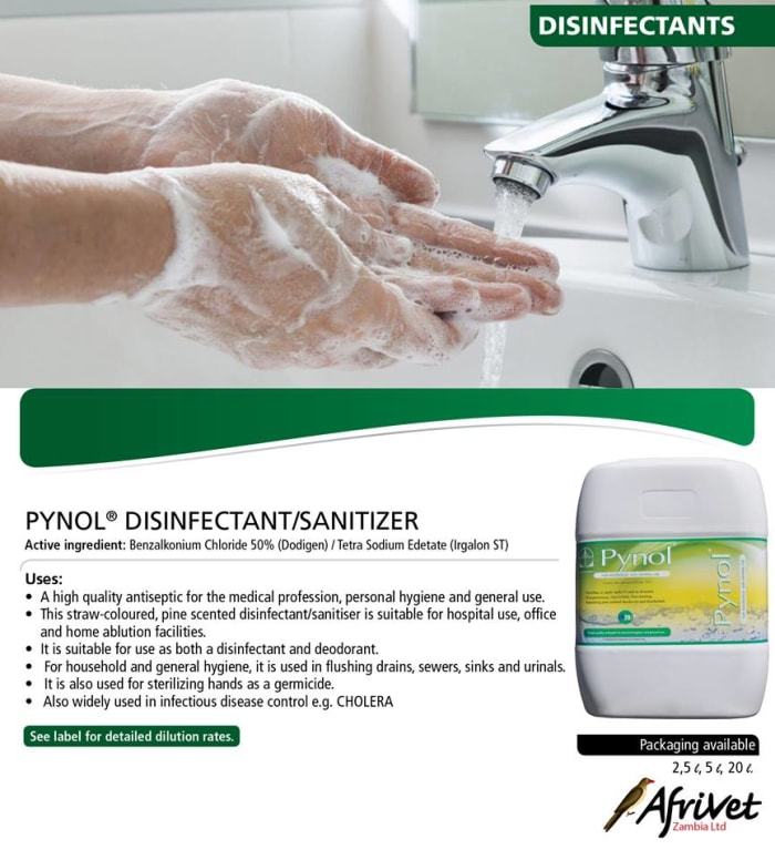 Pynol disinfectant and sanitizer available in stock