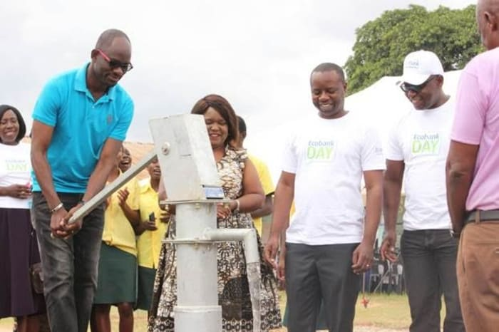 Borehole and water treatment products donated to Kitwe school on 2017 Ecobank Day