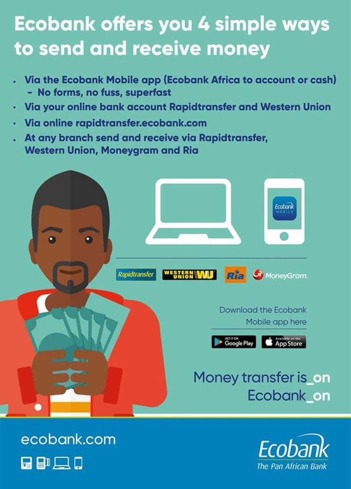 Send and receive money with Ecobank