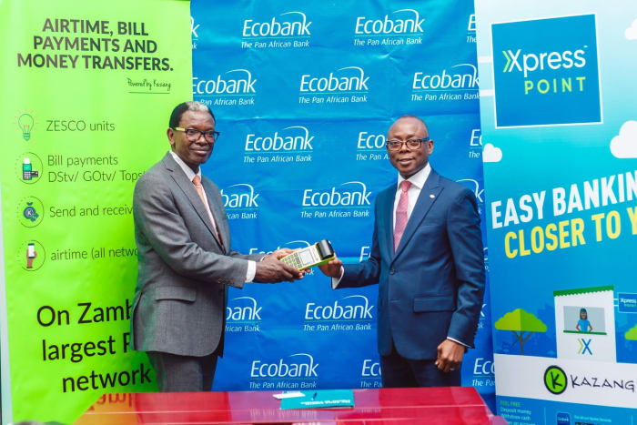 Kazang brings Ecobank banking services closer to customers with Xpress Point rollout through Kazang Agents