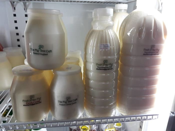 Fresh dairy products available