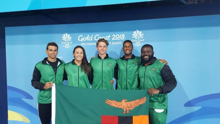 Trident's swimming coach takes Team Zambia to Commonwealth Games