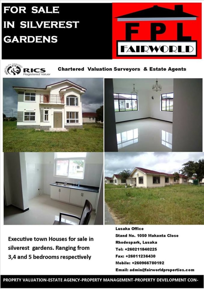 Executive town houses for sale in Silverest Gardens