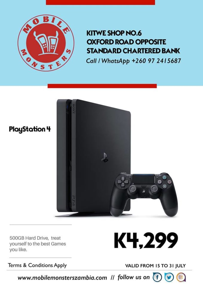 PlayStation 4 available in Kitwe outlet