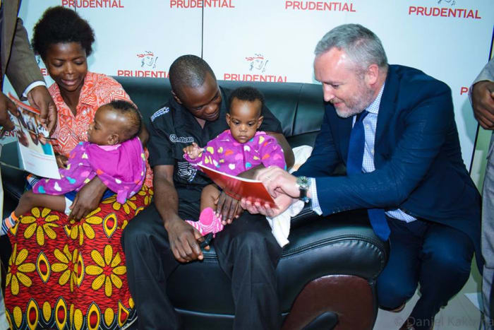 Prudential Zambia donates to formerly conjoined twins
