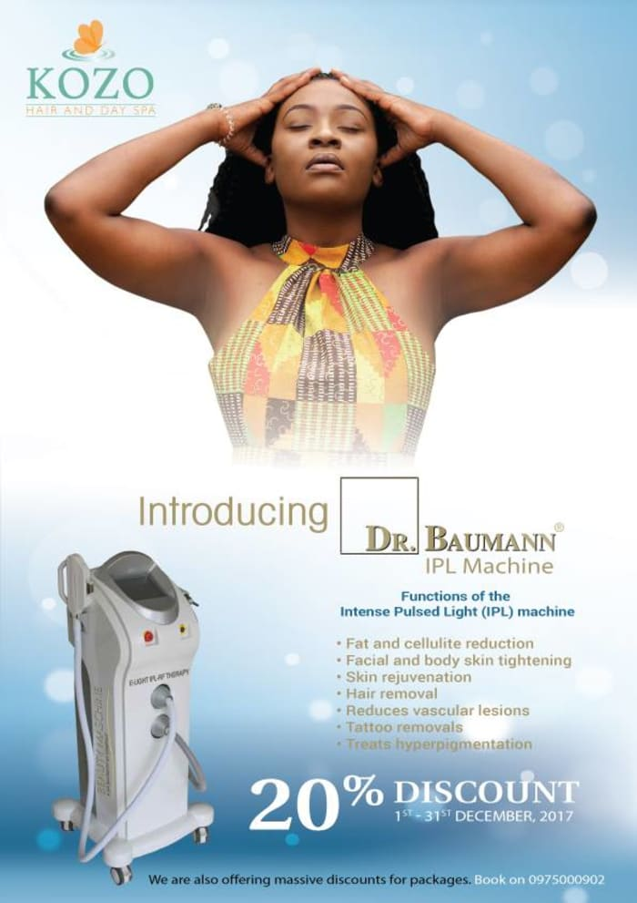 20% off all body fix using the Dr Baumann IPL machine