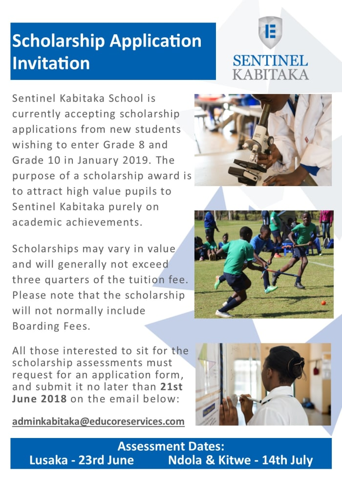 Grade 8 and 10 Scholarship Application Invitation
