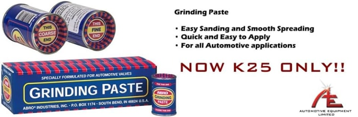 Discount on grinding paste for automotive valves