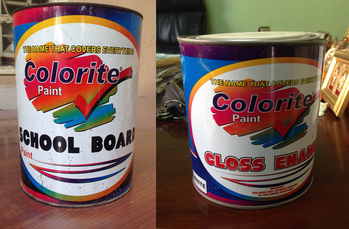 A range of indoor, outdoor and decorative paints