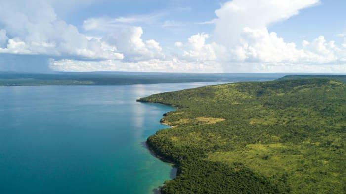 A tropical beach paradise in Africa