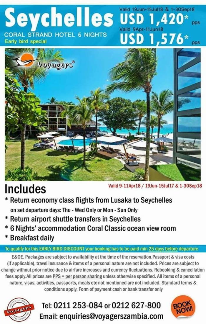 Seychelles early bird special package