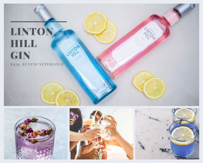 Blue London Dry Gin and Pink Strawberry Flavoured Gin for K479