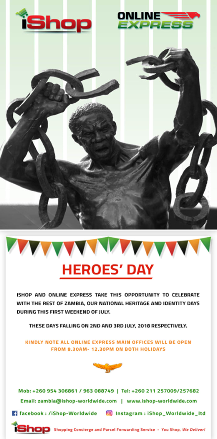 Opening hours during Heroes' Day
