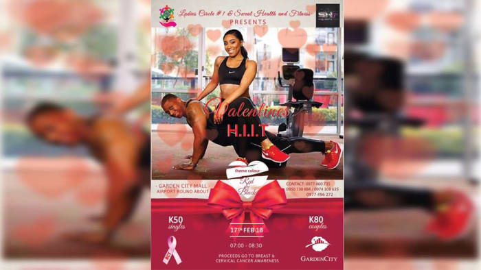 Fundraising Valentine's HIIT workout