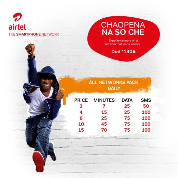 New Airtel Chaopena na SoChe bundles