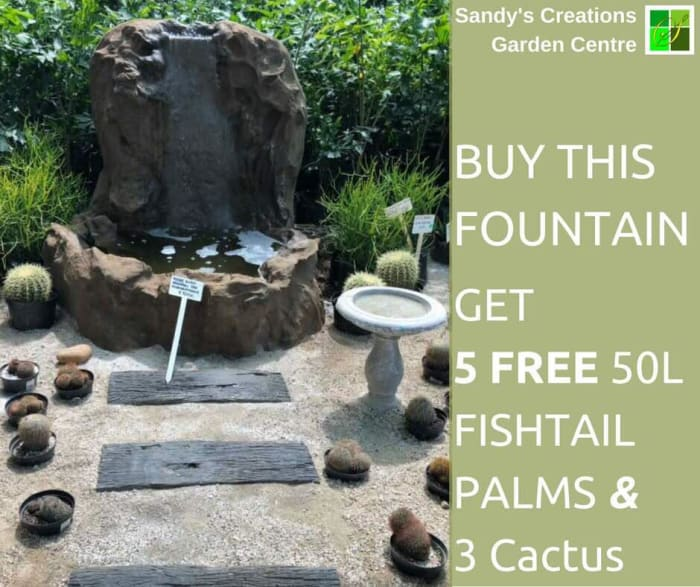 Buy a fountain and get 8 free plants