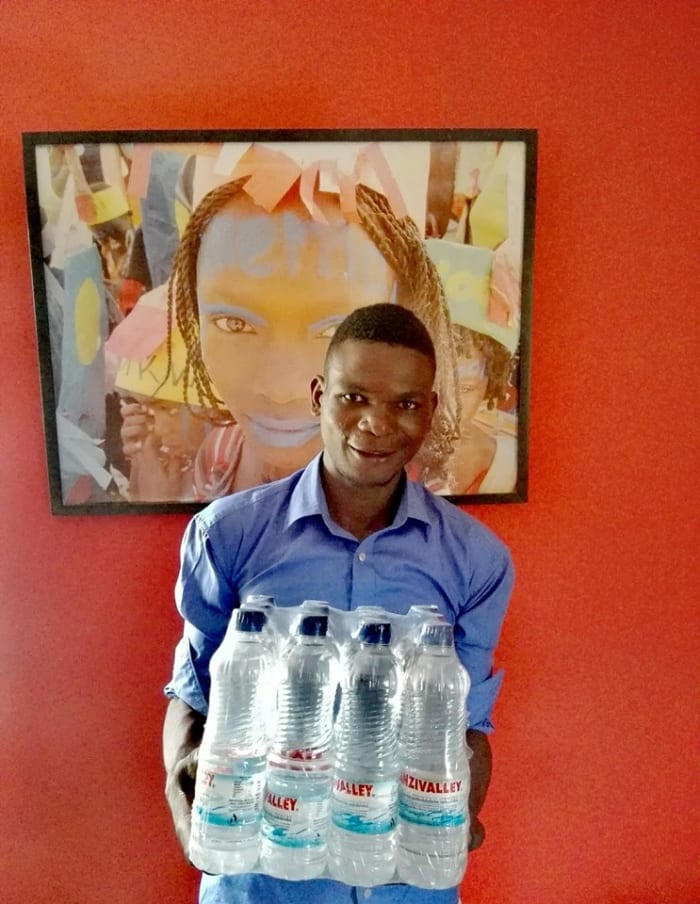 Bottled water donations received