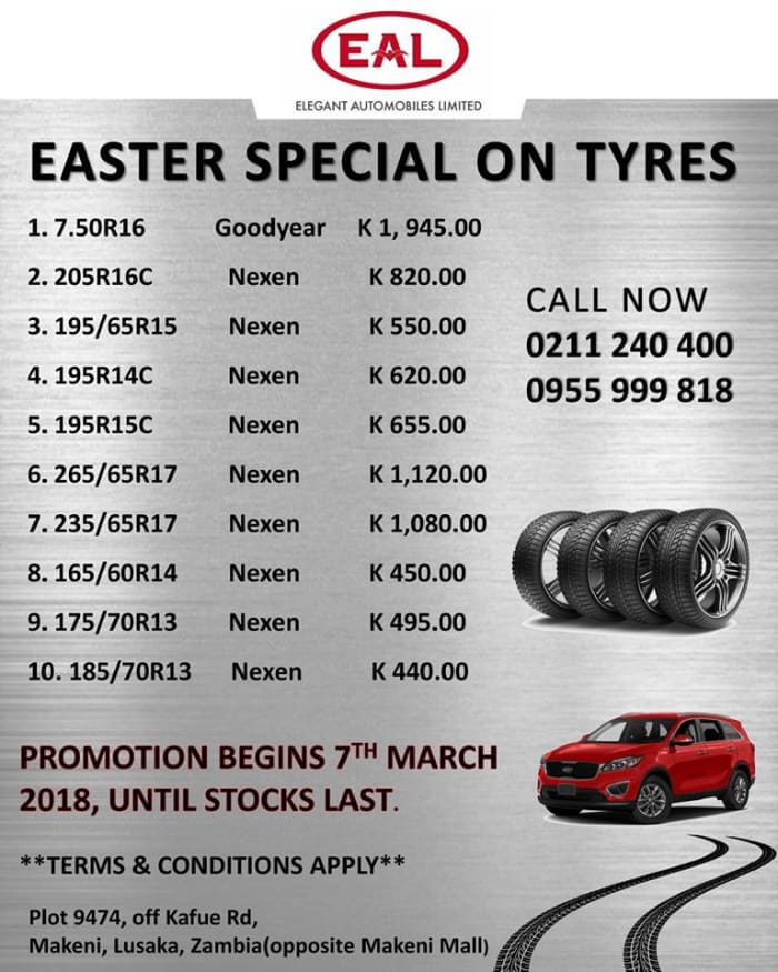 Easter special on tyres