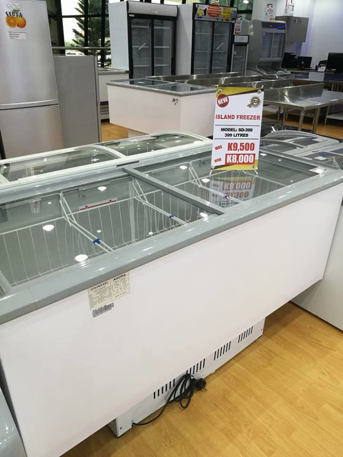 Discount on island freezer